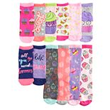 Girls 6-11 Pink Cookie 12 Days of Socks