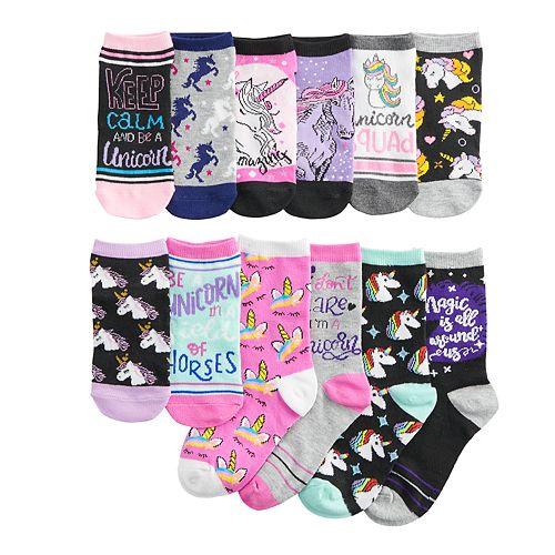 Girls 6-11 Pink Cookie 12 Days of Socks