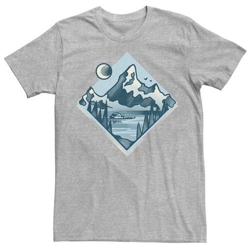 Men's Mountains Geometric Minimal Tee