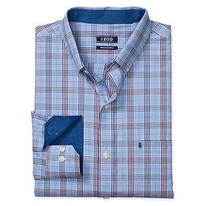 Big & Tall IZOD Sportswear Premium Essentials Slim-Fit Stretch Plaid Button-Down Shirt