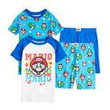 Boys 4-12 Nintendo Mario Tops & Shorts Pajama Set