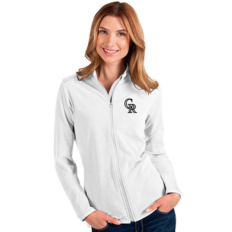 Women's Colorado Rockies Glacier Full Zip Jacket, Size: XXL, White