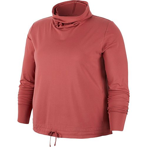 Plus Size Nike Funnel-Neck Yoga Training Top