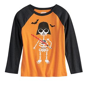Boys 4-12 Jumping Beans® Darth Vader Spooky Halloween Long-Sleeve Tee