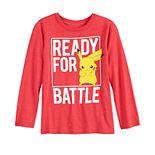 Boys 4-12 Jumping Beans® Pokemon Pikachu Ready for Battle Long-Sleeve Tee