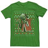 Men's Dallas Stars Star Wars Yoda In A Santa Suit Ugly Christmas Tee