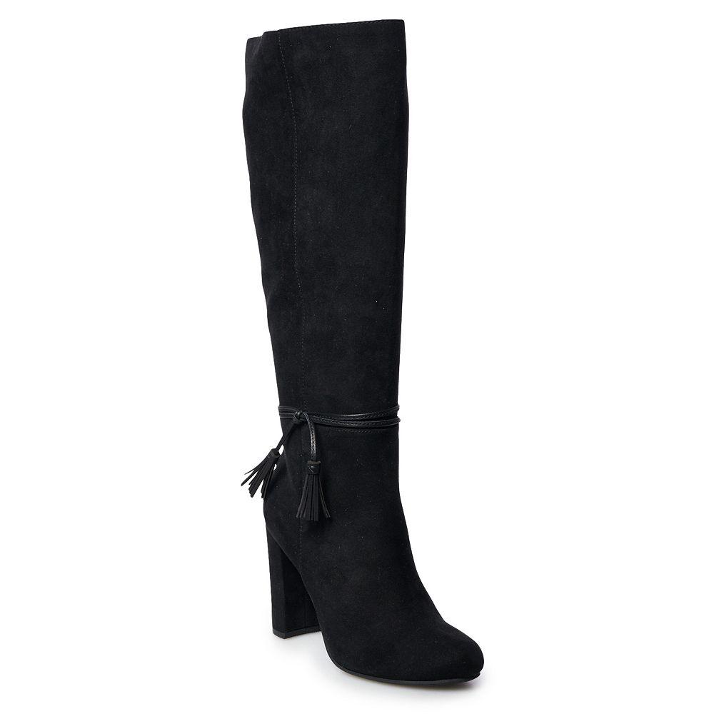 LC Lauren Conrad Rootbeer Women's Knee-High Boots