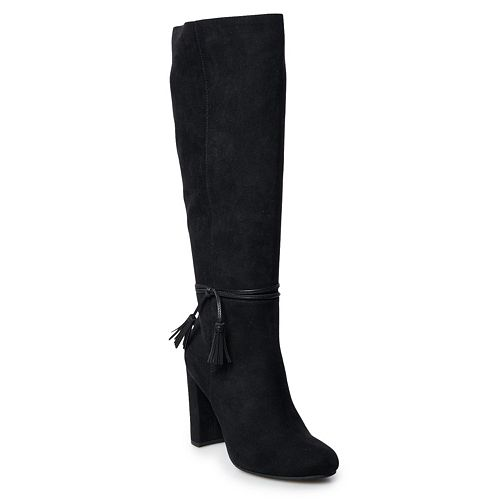 LC Lauren Conrad Rootbeer Women's Knee-High Boots