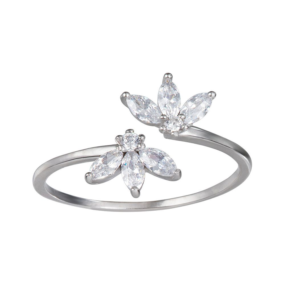 LC Lauren Conrad Sterling Silver Marquise Crystal Ring