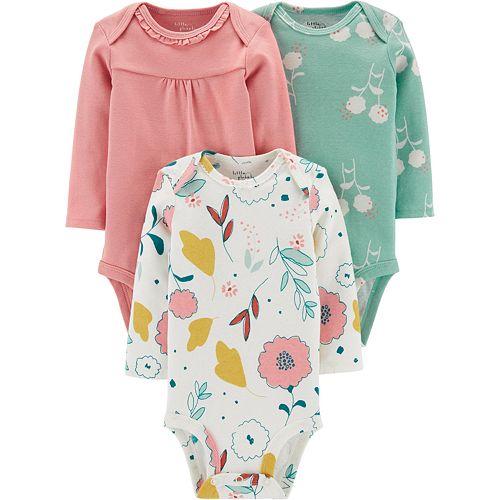 Baby Girl Carter's 3-Pack Organic Bodysuits