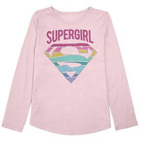 Girls 4-12 Jumping Beans® Supergirl Rainbow Graphic Tee