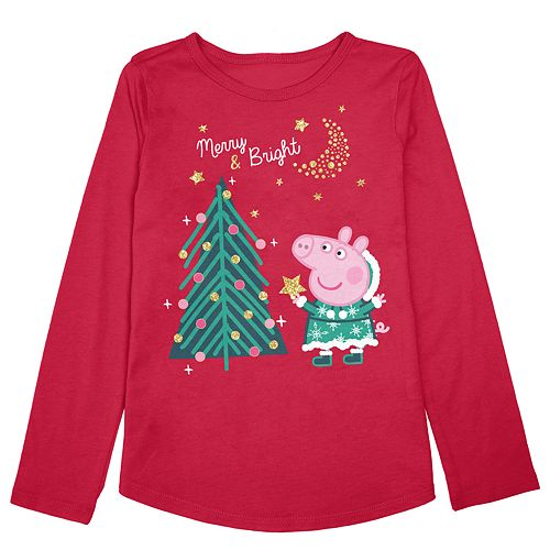Girls 4-12 Jumping Beans® Peppa Pig Christmas Tree Graphic Tee