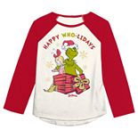 Jumping Beans® Girls 4-12 Dr. Seuss Grinch Holiday Graphic Tee