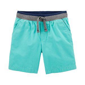 Blue Plaid 6 Months Carters Baby Boys Plaid Flat-Front Shorts