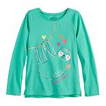Girls 4-12 Jumping Beans® Long Sleeve Graphic Tee