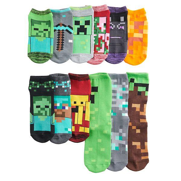 Boys 8 20 Minecraft 12 Days Of Socks Set