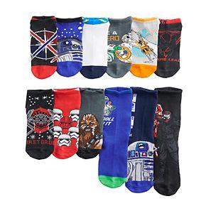 Boys 8-20 Star Wars 12 Days of Socks Set