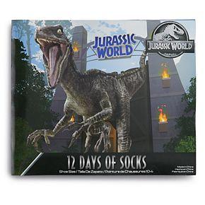 Boys 8-20 Jurassic World 12 Days of Socks Set