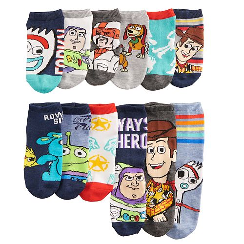 Disney / Pixar Toy Story 4 Boys 4-6 12 Days of Socks
