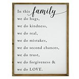 Belle Maison Family Typography Wall Decor