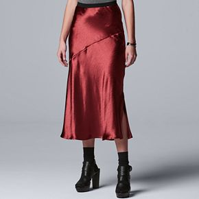 Women's Simply Vera Vera Wang Satin Skirt