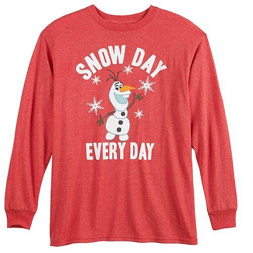 Disney's Frozen Boys 8-20 Olaf Snow Day Graphic Tee