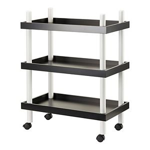 Urban Shop Kids 3-Tier Rolling Storage Cart
