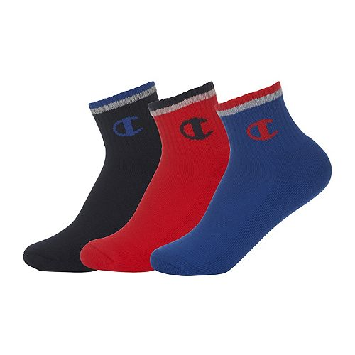 Boys 4-20 Champion 3-pack Tipping Quarter-Crew Socks