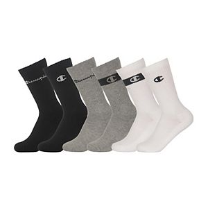 Boys Champion® 6-pack Logo Crew Socks
