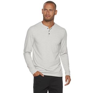 Men's Marc Anthony Long Sleeve Blade Collar Henley Shirt