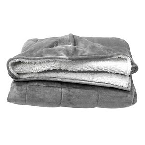 Pur Serenity 10-lb. Hooded Weighted Velvet Throw