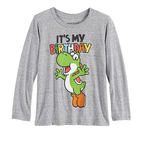 Boys 4-12 Jumping Beans® Mario Bros. Yoshi Birthday Long-Sleeve Tee