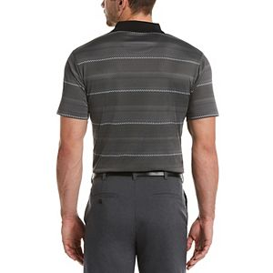 Men's Grand Slam DriFlow Classic-Fit Striped Performance Golf Polo