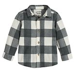 Baby Boy Jumping Beans® Plaid Microfleece Button Down Shirt