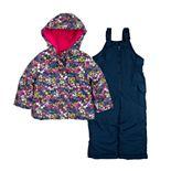 Girls 4-8 Carter's Floral Print Snowsuit
