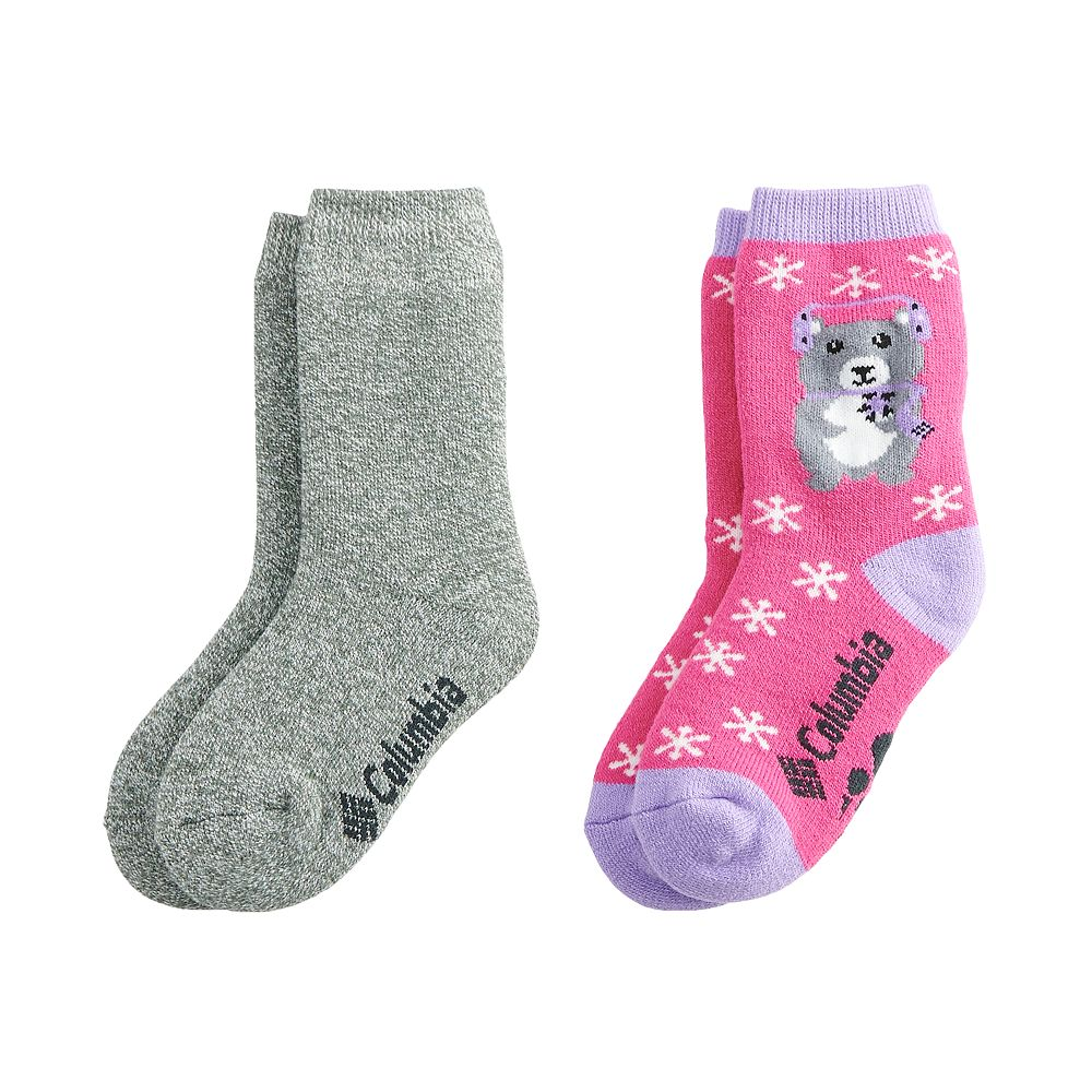 Girls 6-8 Columbia Youth Penguin Thermal Crew Sock 2-Pack