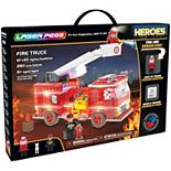 Laser Pegs Fire Truck Light Up Building Kit (280 pieces)