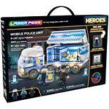 Laser Pegs Mobile Police Unit Light Up Building Kit (300 pieces)