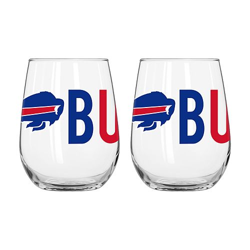 Boelter Buffalo Bills Stemless Wine Glass Set