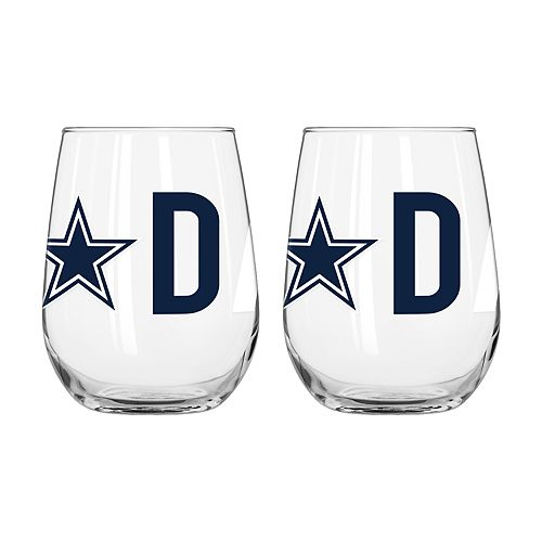 Boelter Dallas Cowboys Stemless Wine Glass Set