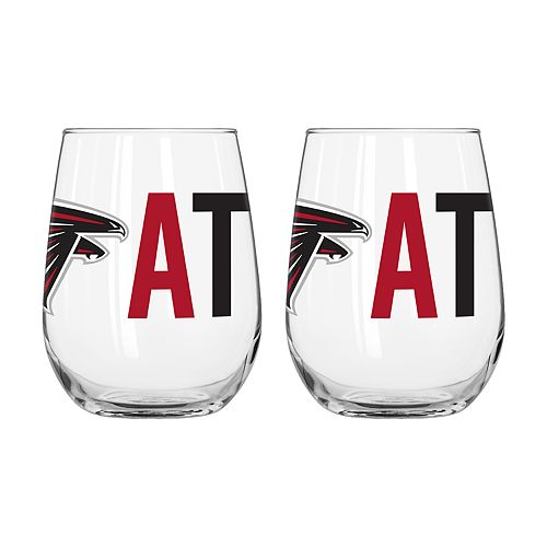 Boelter Atlanta Falcons Stemless Wine Glass Set