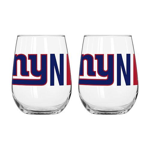 Boelter New York Giants Stemless Wine Glass Set