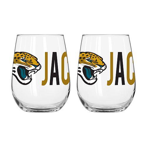 Boelter Jacksonville Jaguars Stemless Wine Glass Set