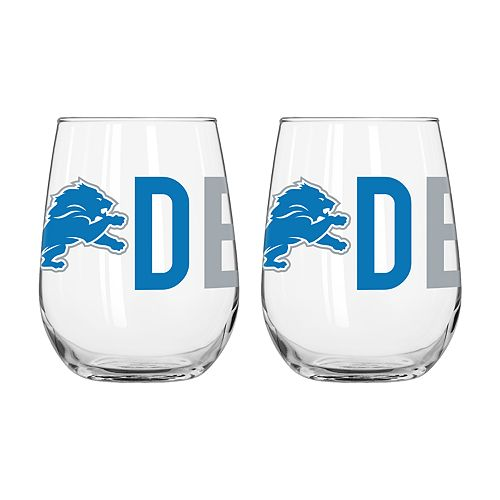 Boelter Detroit Lions Stemless Wine Glass Set