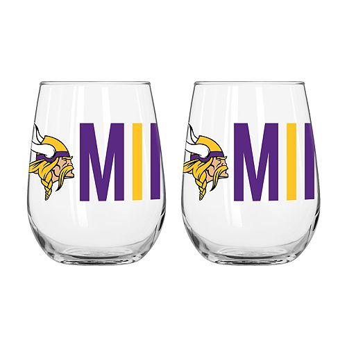 Boelter Minnesota Vikings Stemless Wine Glass Set