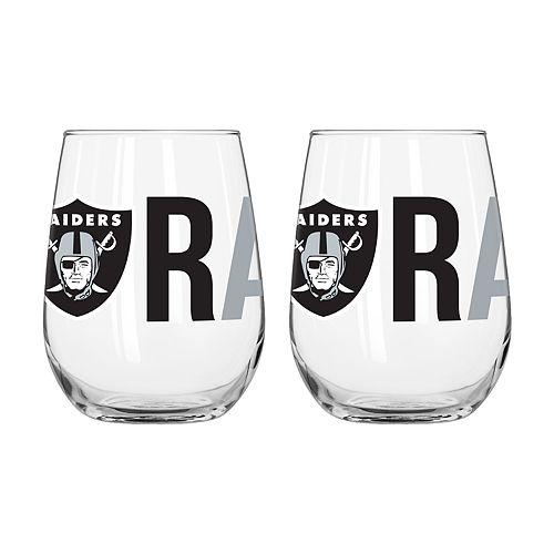 Boelter Oakland Raiders Stemless Wine Glass Set