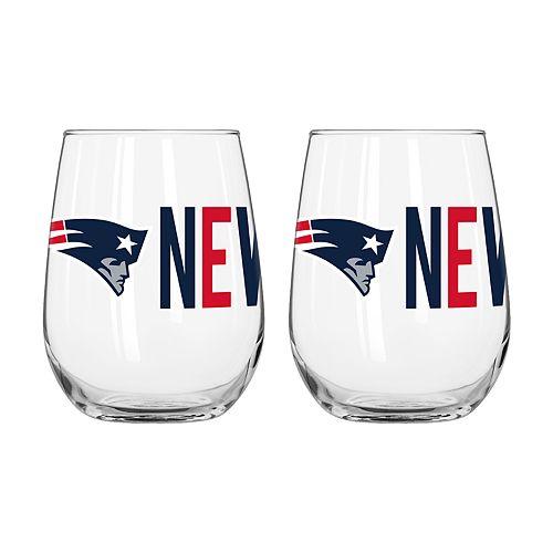 Boelter New EnglandPatriots Stemless Wine Glass Set
