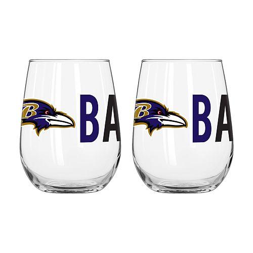 Boelter Baltimore Ravens Stemless Wine Glass Set