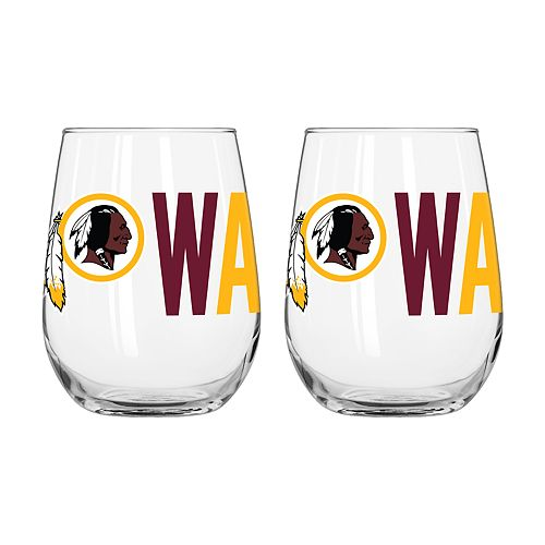 Boelter Washington Redskins Stemless Wine Glass Set
