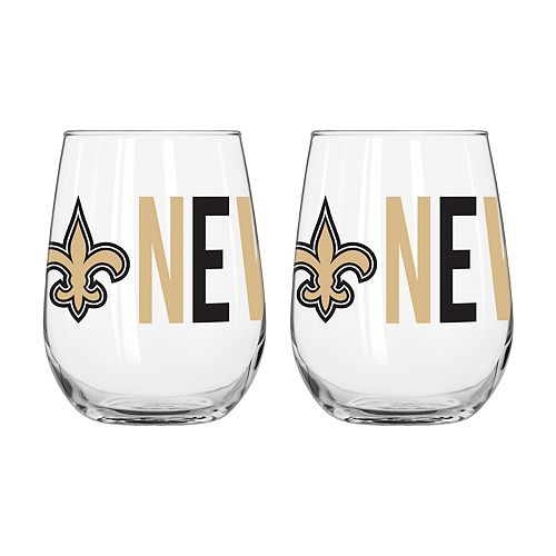 Boelter New Orleans Saints Stemless Wine Glass Set